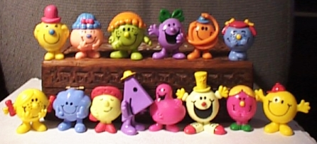 Monsieur Madame / Mr Men & Little Miss (Plastoy) 1998 Mrmen1